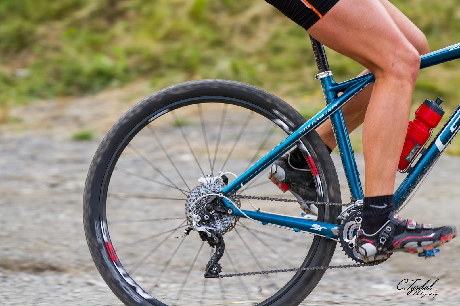 Sykkelhjul i fart