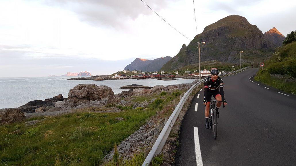 Flotte lysforhold på Å før start, og Lampe er race ready
